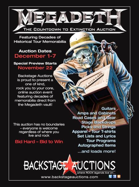 megadeth auction
