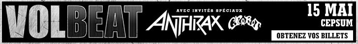 Anthrax Volbeat CEPSUM Montreal