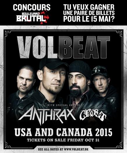 CONCOURS Volbeat, Anthrax et Crobot auCEPSUM