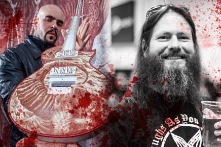 Une guitare illustrée avec le sang de GaryHolt