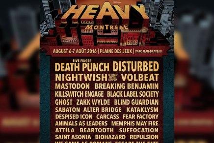 Programmation complète du Heavy Montréal2016