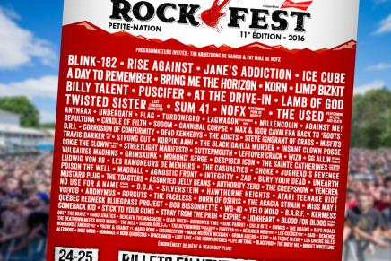 Le lineup du Rockfest 2016 est assezintense!