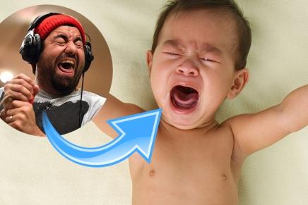 Chino Moreno de Deftones est unbébé