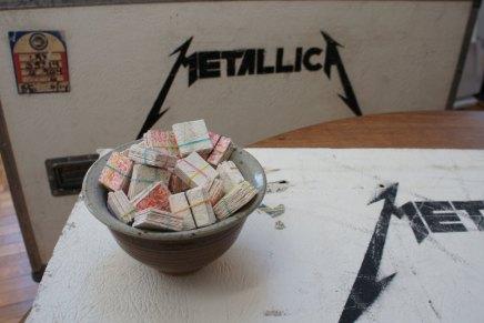 Tu peux posséder un morceau de l'histoire deMetallica