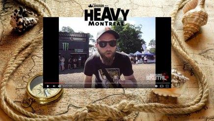La position des scènes du Heavy Montréal2016