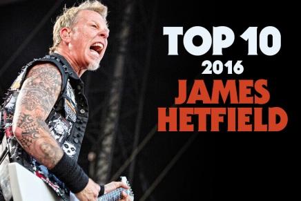 James Hetfield partage son TOP 10 de2016