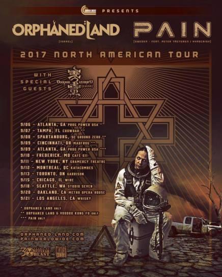 ORPHANED LAND et PAIN à Montréal cetautomne!