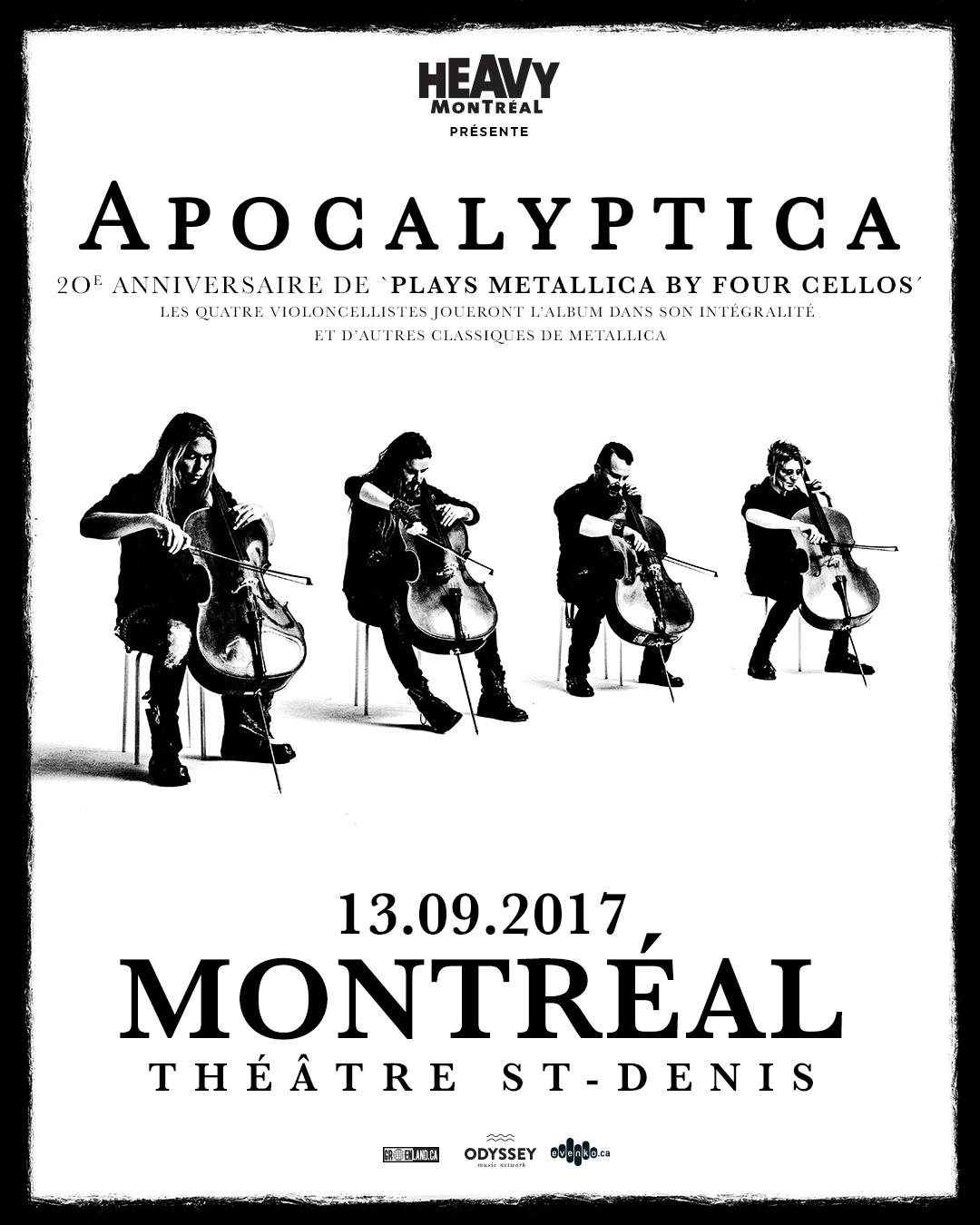 apocalyptica montreal metallica