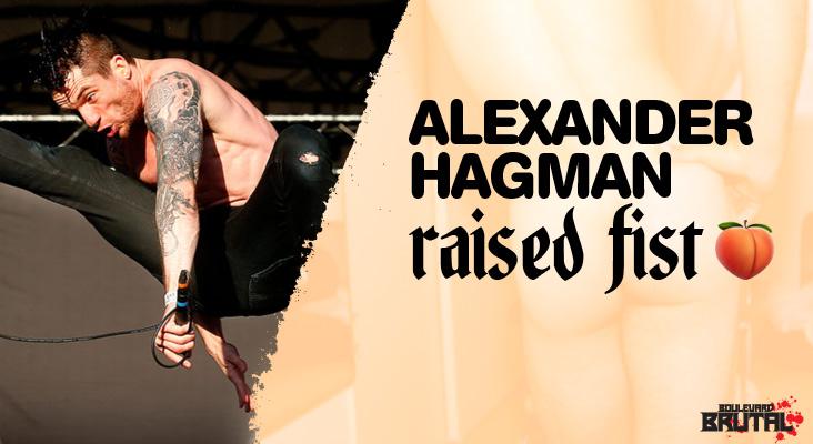alexander raised fist