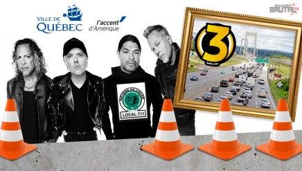 EXCLUSIF — Metallica va inaugurer le 3e lien àQuébec