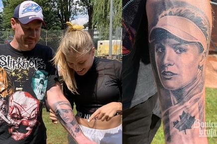Un fan de Slipknot se fait tatouer le visage d'EugenieBouchard